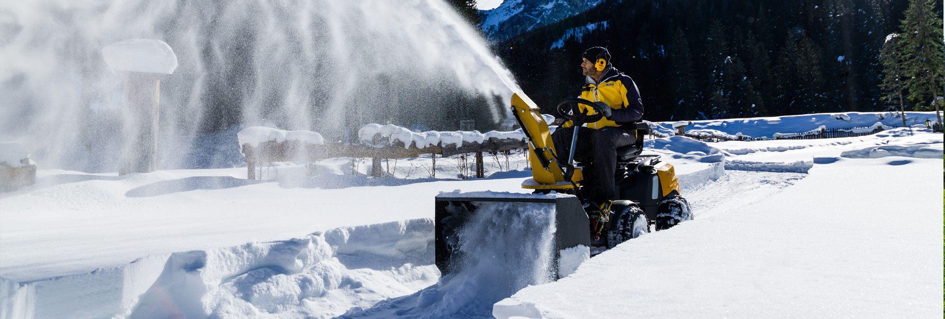 Снегоуборочные трактора и райдеры Stiga